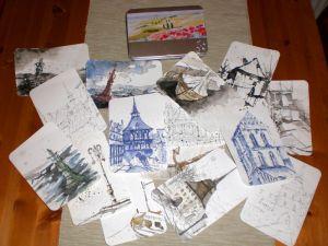 Kleine Postkartenserie - Frank Hess